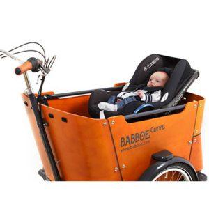 Porta ovetto cargo bike Babboe Curve