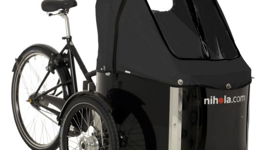 nihola-Family-cargo-bike-black-hood1