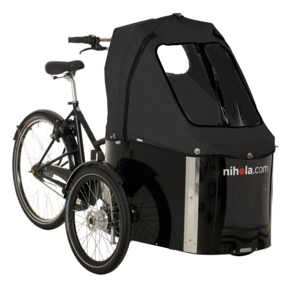 nihola-Family-cargo-bike-black-hood1