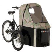nihola-Family-cargo-bike-light-army-hood1