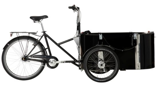 nihola 4.0 cargo bike - side ex. hood