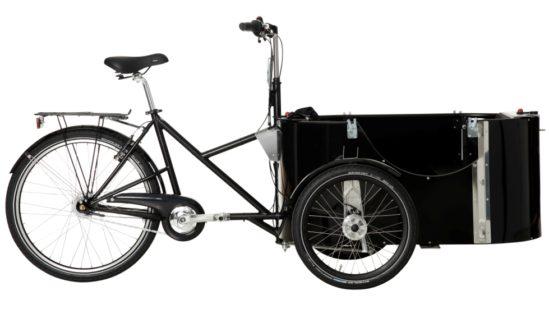 nihola 4.0 cargo bike - side ex. hood