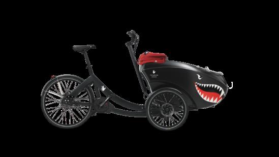 triobike mono e mid drive enviolo black shark mouth side