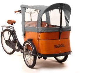 Capote parapioggia cargo bike Babboe Grigia