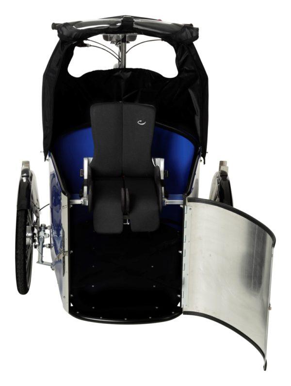 nihola REHAB cargo bike - ladcykel - open front