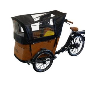 Capote parapioggia cargo bike Babboe Curve Nera
