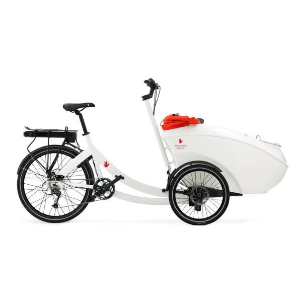 triobike mono e rear drive white side