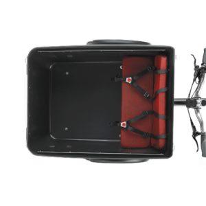 triobike boxter black 2 kids seat top